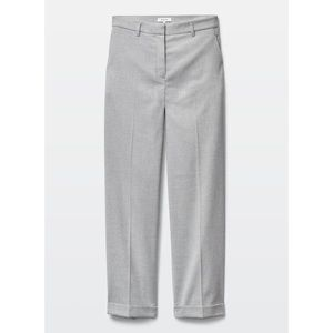 Aritzia Babaton Wide Leg Napoleon Dress Pants Grey
